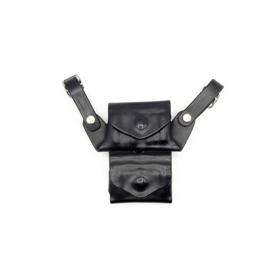 Horizontal Shoulder Gun Holster with Double Mag Pouch - Kramer Leather