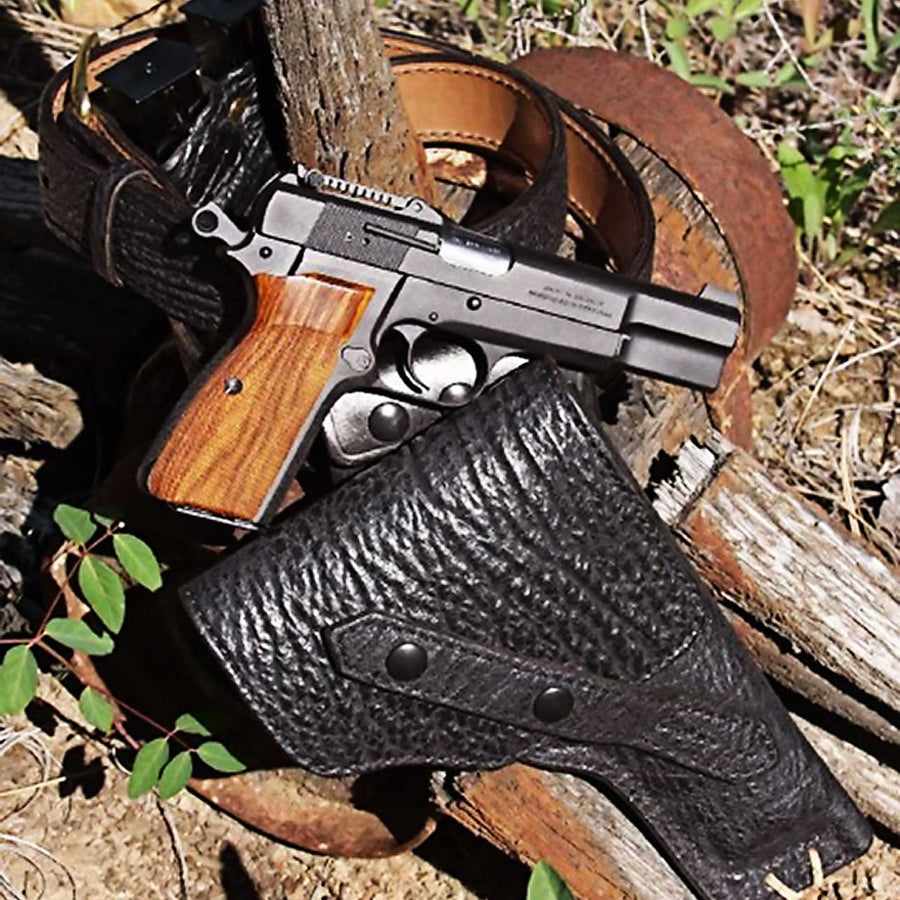 The Flap Explorer Sharkskin Gun Holster - Kramer Leather