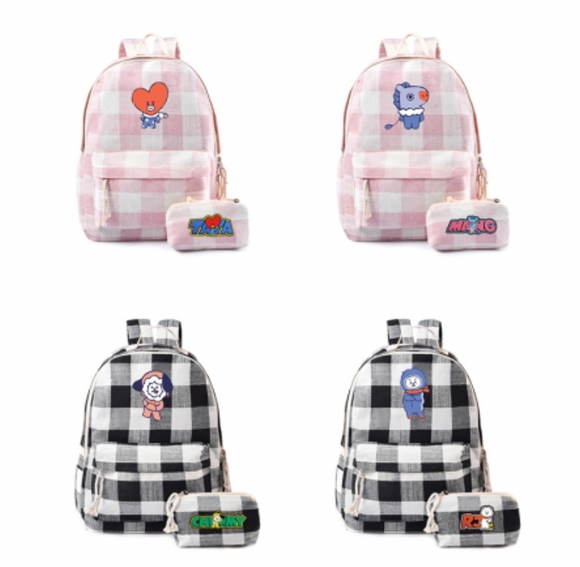BTS BT21 Student Backpacks