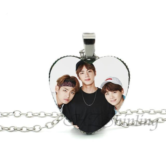 BTS  Trendy Heart Necklace With Images