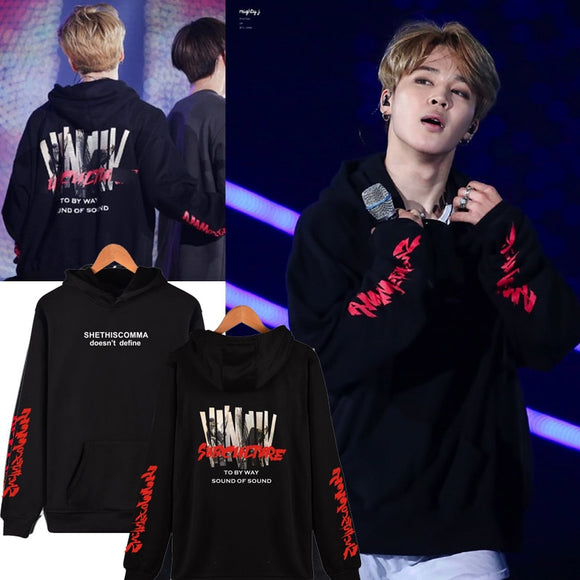 BTS   JIMIN Stage Hoodie - Red Subculture