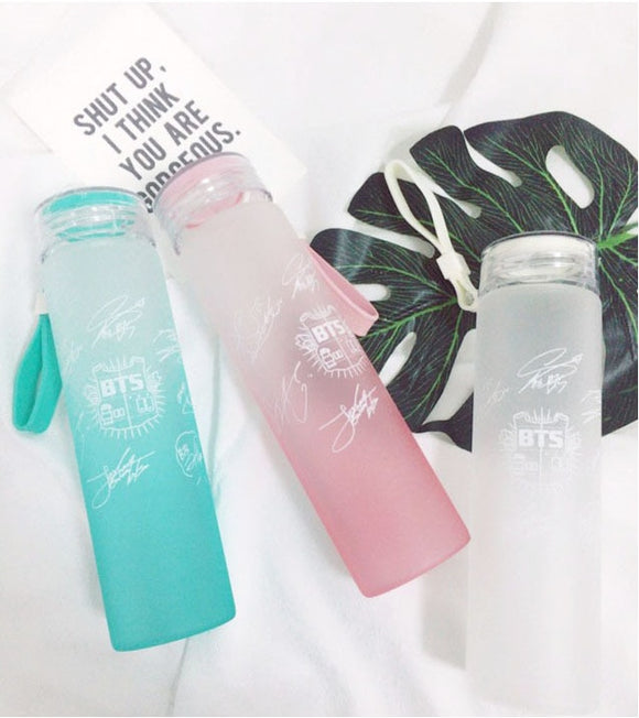 BTS Glass Bottle Frosted