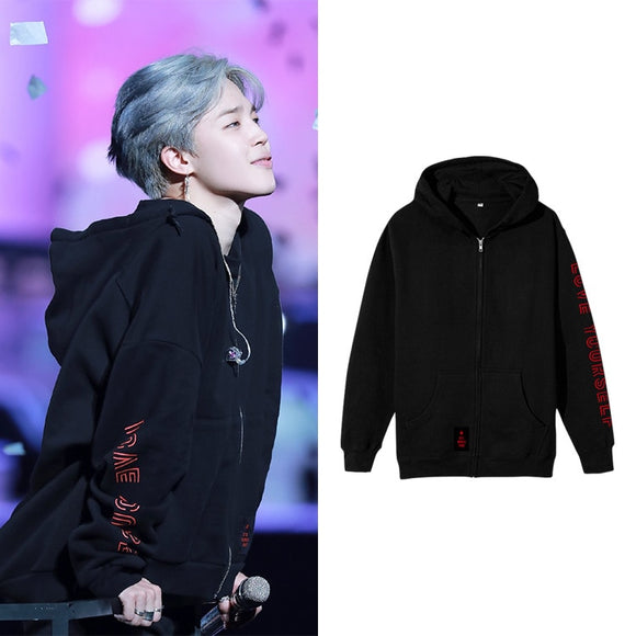 BTS   LOVE YOURSELF Tour Stage Zipper Hoodie