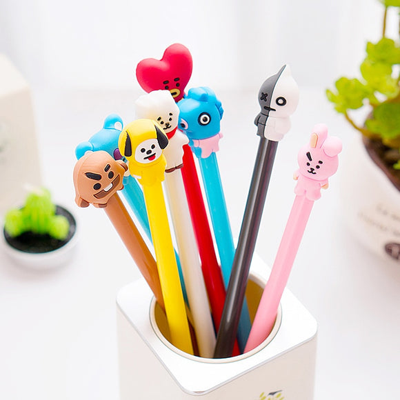 Colorful BT21 Pen Of Each Member