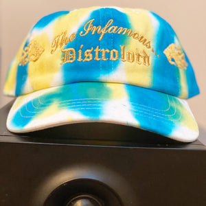 "THE INFAMOUS DISTROLORD GOLDEN ""TY TY"" DAD HAT (GOLD TEXT)"