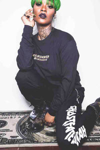 """ALMIGHTY DISTROLORD"" LONG SLEEVE (BLACK)"