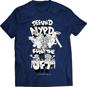 DEFUND NYPD FUND UFT Navy T Shirt