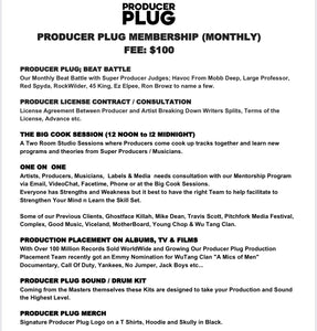 PRODUCER PLUG MEMBERSHIP (MONTHLY)