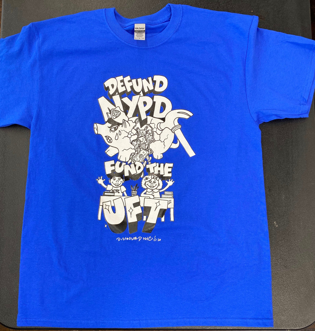 DEFUND NYPD FUND UFT Royal Blue T Shirt