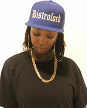Load image into Gallery viewer, DISTROLORD EXECUTIVE BLUE SNAP BACK (WHITE EMBROIDERY)