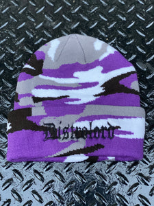 DISTROLORD CAMO SKULLY (PURPLE GRAY  BLACK WHITE)