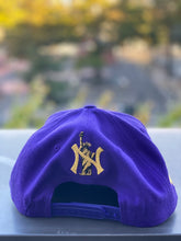 "Load image into Gallery viewer, DISTROLORD "" 7 "" PURPLE  SNAP BACK (GOLD TEXT)"
