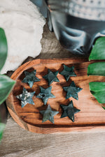 Moss Agate Star Carving