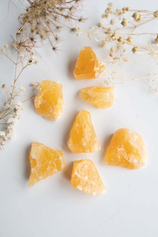 Orange Calcite Rough Stone