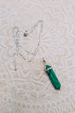 Malachite Sterling Silver DT Pendant