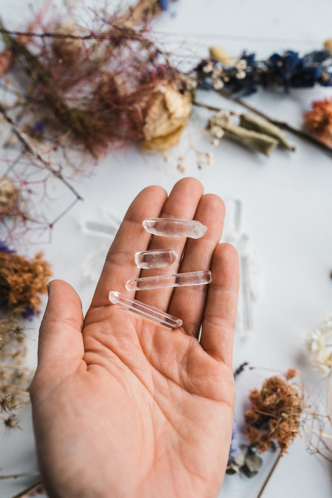 Clear Quartz Mini Points (For Grids)