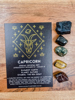 Capricorn - Zodiac Crystal Set
