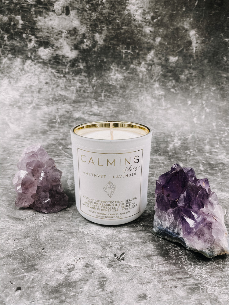 Hidden Crystal Candle | Calming Vibes