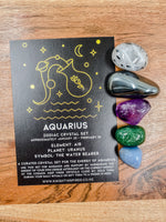 Aquarius - Zodiac Crystal Set
