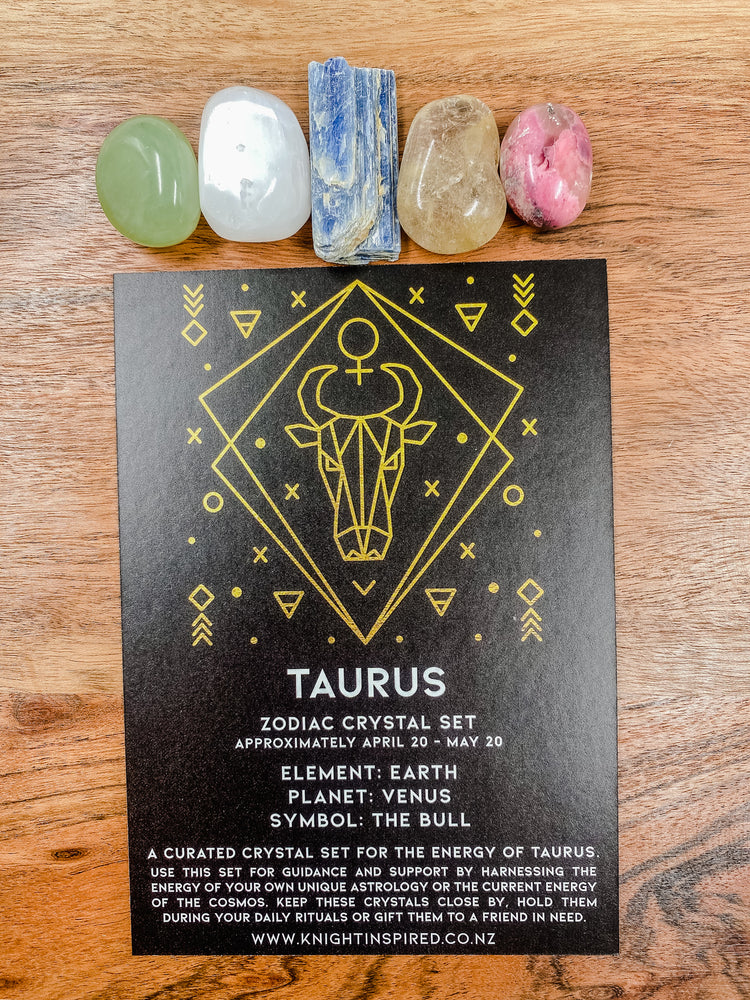 Taurus - Zodiac Crystal Set