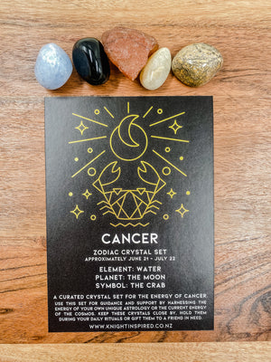 Cancer - Zodiac Crystal Set