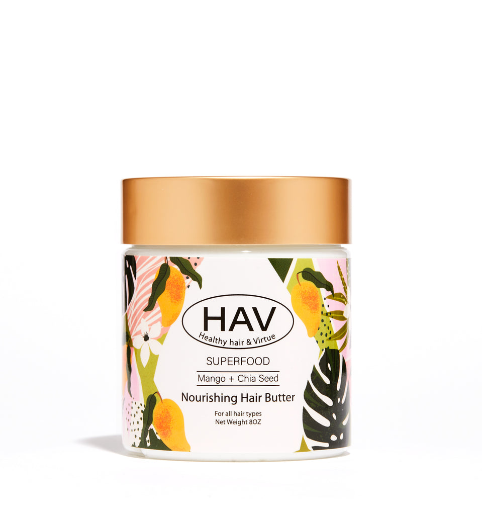 SUPERFOOD MANGO + CHIA SEED NOURISHING HAIR BUTTER
