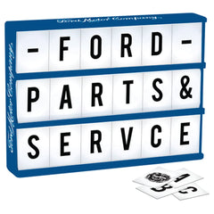 Ford Light Up Box With 86 Letters and Characters