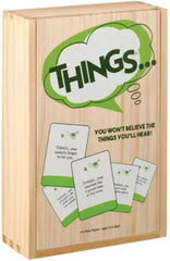 Things Board Game Card Game Humour in a Wooden Box