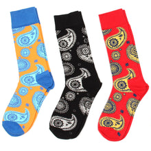 Load image into Gallery viewer, Love Your Socks Mens Paisley Print Cotton Ankle Socks Red Collection