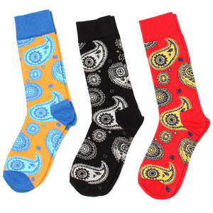 Love Your Socks Mens Paisley Print Cotton Ankle Socks Red Collection