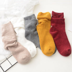 Love Your Socks Womens Terry Cotton Ankle Bed Socks Grey Collection