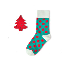 Load image into Gallery viewer, Love Your Socks Womens Big Dots Cotton Ankle Socks Green Single