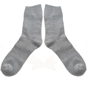 Love Your Socks Womens Terry Cotton Ankle Bed Socks Grey