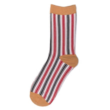 Load image into Gallery viewer, Love Your Socks Womens Vertical Stripe Cotton Ankle Socks Mustard Yellow Single