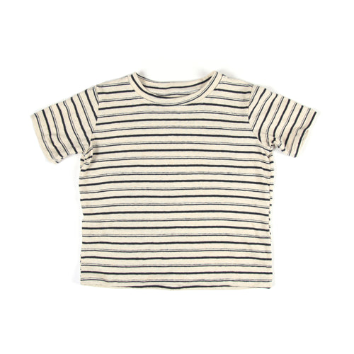 Hemp Tee Black Stripes