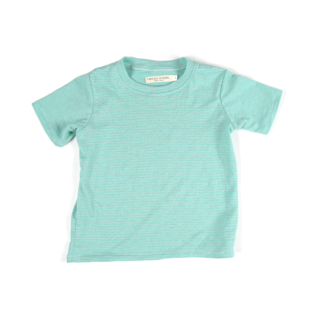 Hemp Tee Mint Stripes
