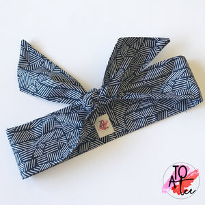 Navy Tribal Headwrap.