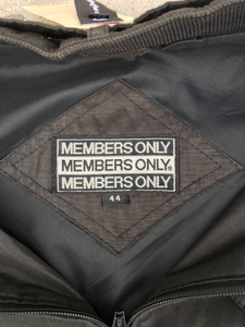 Members Only Jacket in Black 1980s