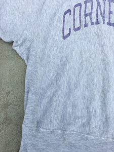 1980's Cornell Champion Reverse Weave Heather Grey Crewneck Sweatshirt