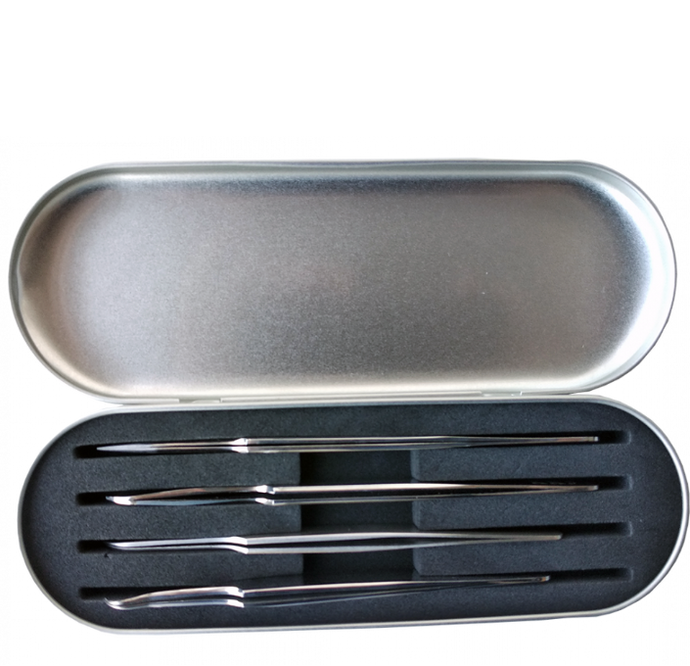 Metallic Tweezer Box