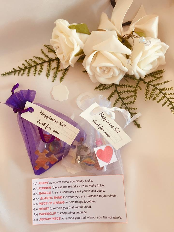 BAGS OF HAPPINESS WEDDING FAVOR BAGS9x7cm / purple-weddingniknaks