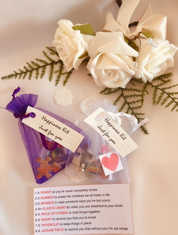Set Of 10 Handmade 'Bags Of Happiness' Wedding Favors-weddingniknaks