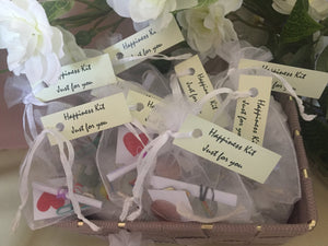 Set Of 10 Handmade 'Bags Of Happiness' Wedding Favors - weddingniknaks