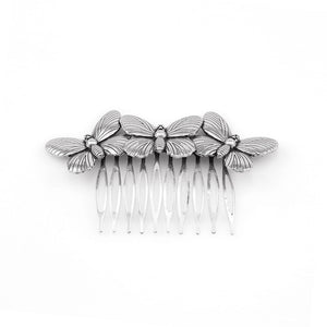 Hair comb with 3 Butterflies available in Gold or Silver colouredGold-color-weddingniknaks