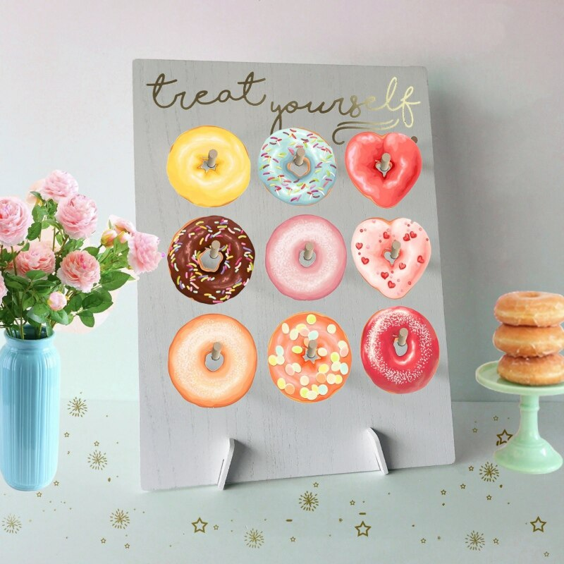Rustic Donut Wall. Holds 9 Donuts. Choice of 2 different wordings-weddingniknaks