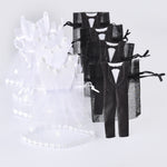 Set of 50 Bride Dress and Groom Tuxedo Organza Favor Bags. - weddingniknaks