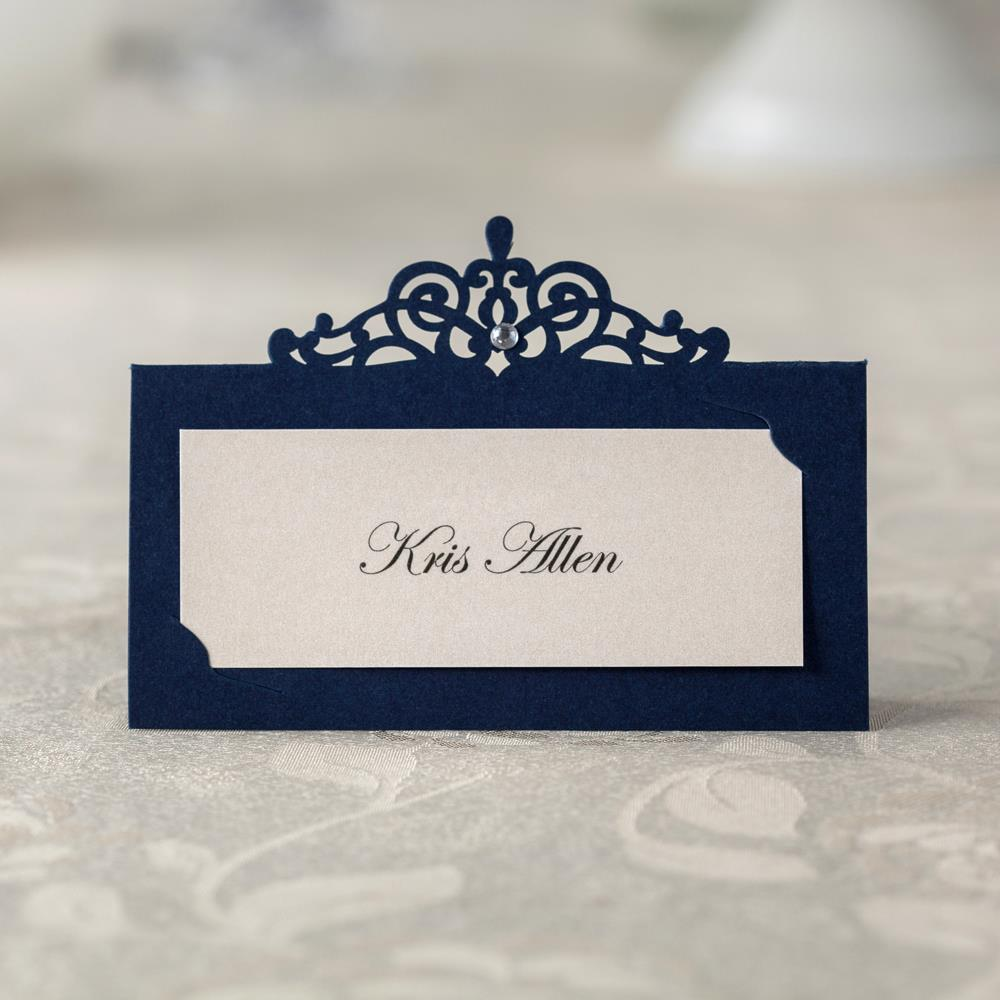 24 Blue Place/Name/Table Number Cards - weddingniknaks