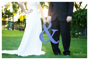 '&' Wedding Sign Table/Venue Decoration or as Photo Prop  available in 4 coloursNavy blue-weddingniknaks