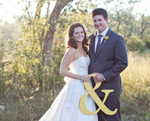 '&' Wedding Sign Table/Venue Decoration or as Photo Prop  available in 4 colours - weddingniknaks