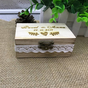 Customised Wooden Wedding Ring Box/Ring Bearer-weddingniknaks